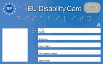 Un facsimile di quella che sarà la EU Disability Card